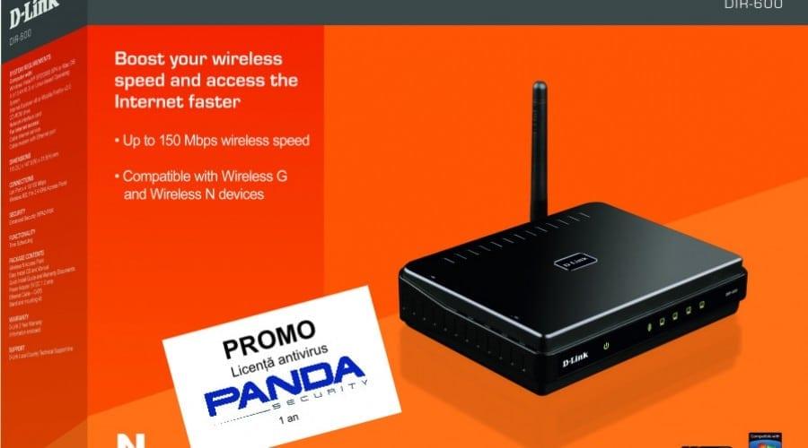 Router D-Link cu Panda Antivirus gratis
