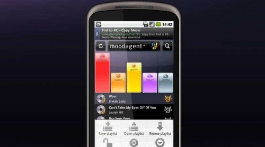 Redescoperă muzica cu Moodagent pentru Android