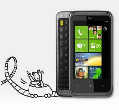 HTC 7 Pro – Windows Phone 7 și QWERTY din ianuarie