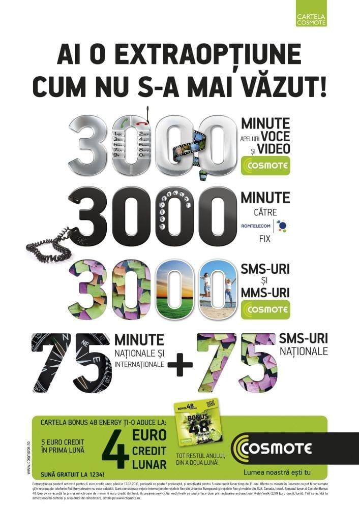 """COSMOTE lansează oferta """"full option"""" pentru Cartela COSMOTE"""