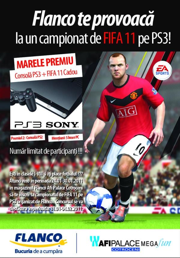 Concurs FIFA 2011 pe PS3, la Flanco