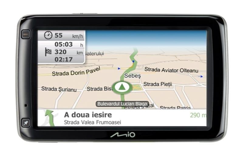 Update la hărţile de GPS Mio