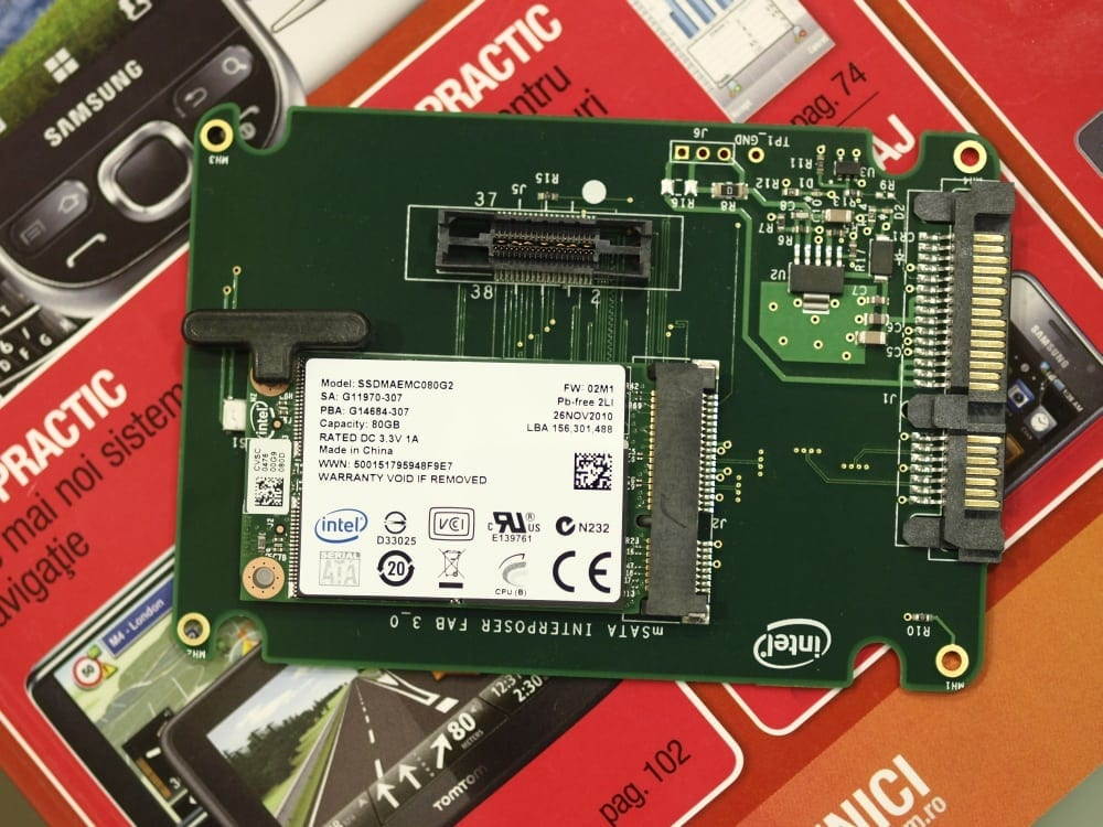 Intel SSD 310 Series – 80GB în podul palmei