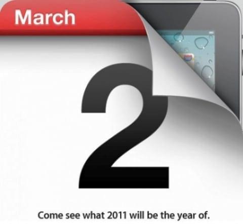 Noul iPad 2 va veni cel mai probabil pe 2 martie