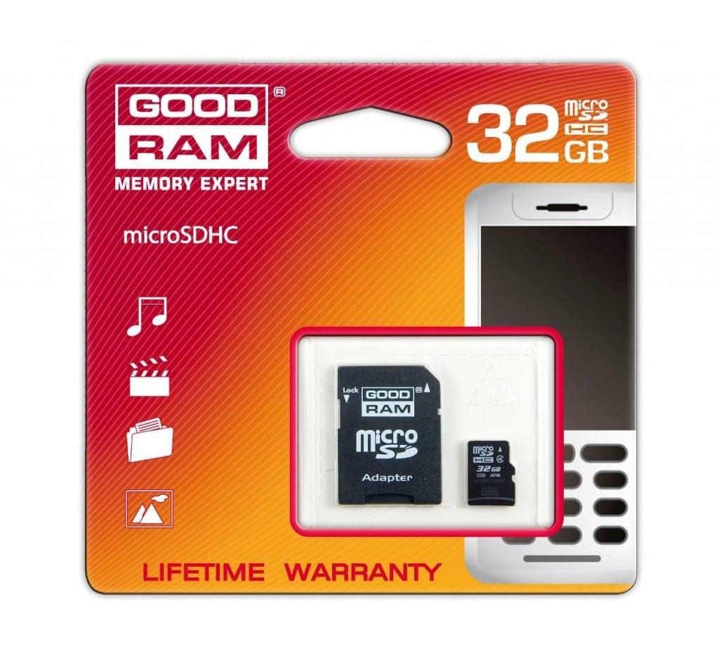 Volum enorm, dimensiuni micro – GOODRAM microSDHC 32GB