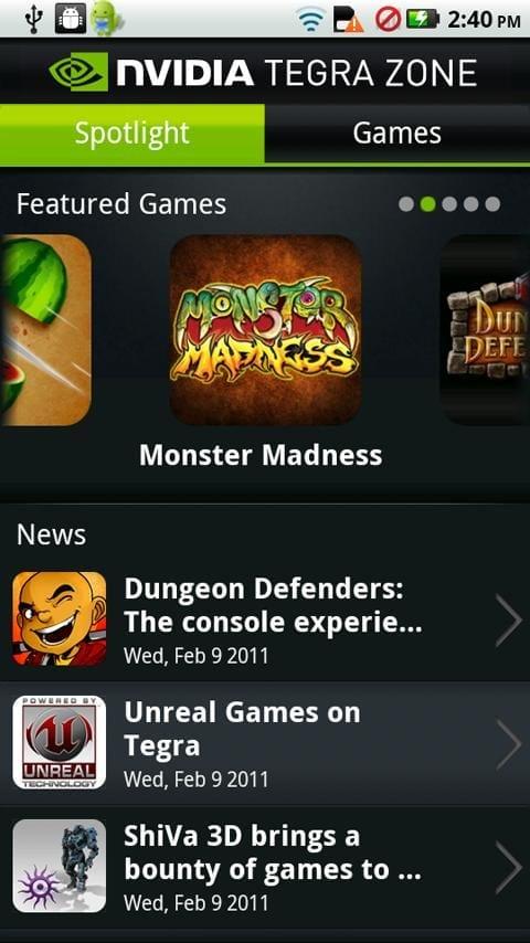 NVIDIA TegraZone – o selecție a celor mai impresionante jocuri Android