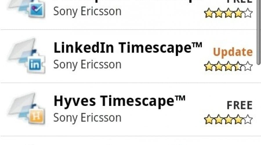 Sony Ericsson are propriul canal pe Android Market