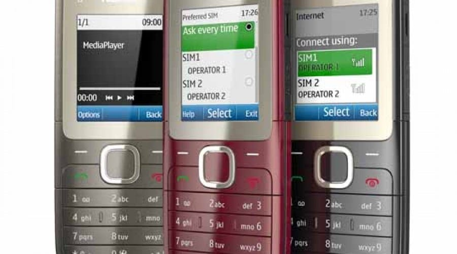 Nokia X1-01 şi Nokia C2-00: Dual SIM la preţ accesibil