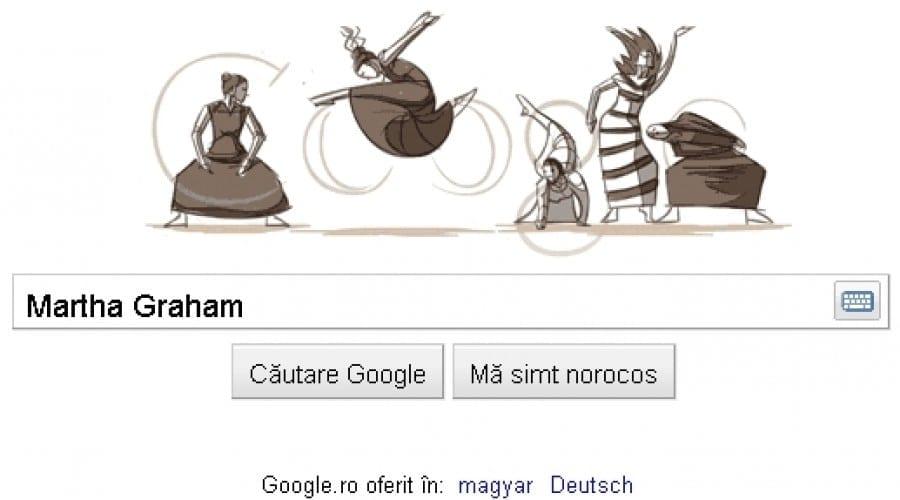 Google Doodle: Martha Graham îşi etalează mişcările