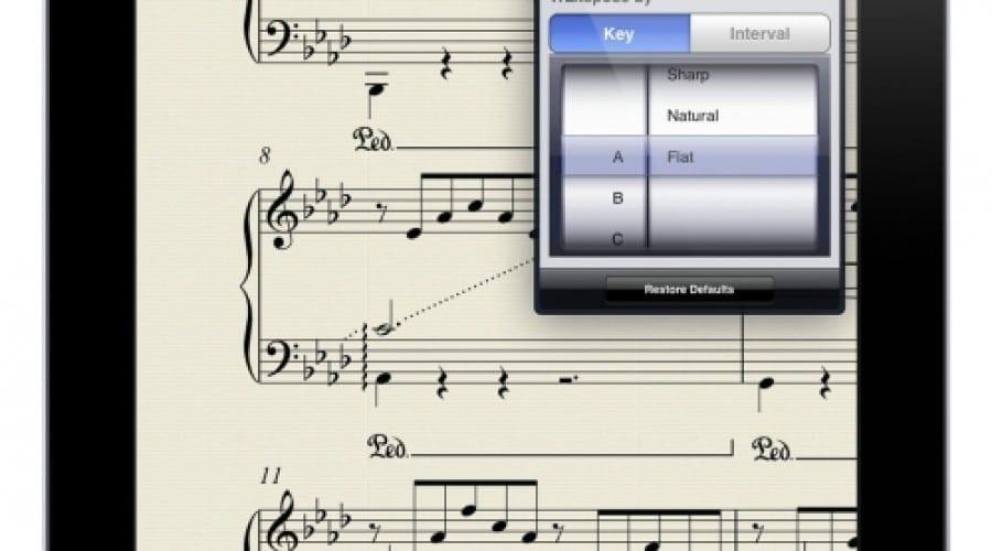Partituri pe iPad, cu noua aplicație Avid Scorch