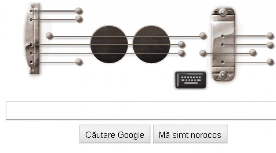 Google Doodle: Les Paul onorat cu o chitară virtuală