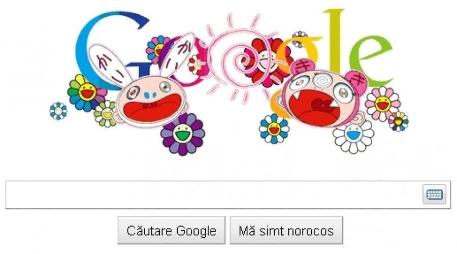 Google Doodle: Personajele lui Takashi Murakami serbează solstiţiul de vară