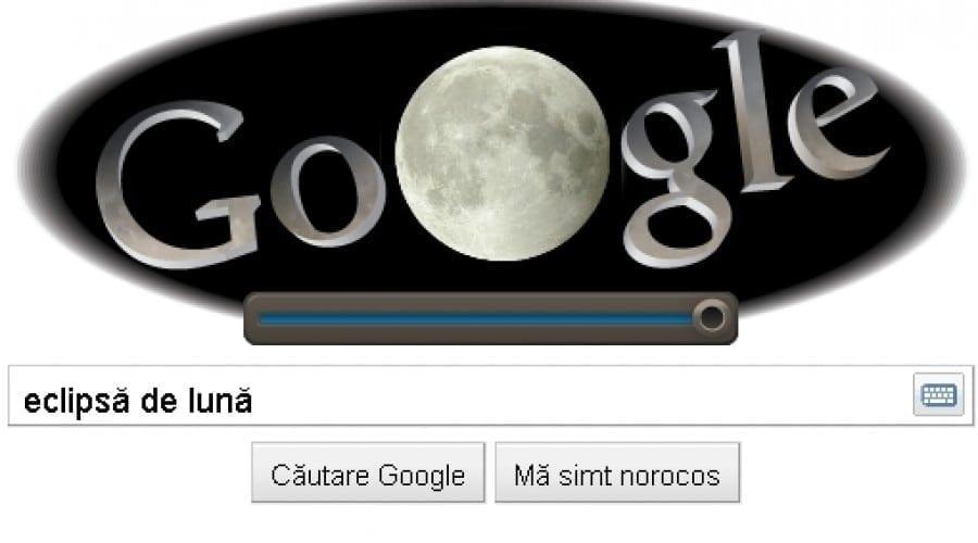 Google Doodle: Eclipsa de Lună prinde viaţă
