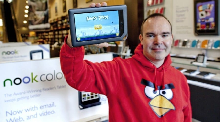 Vulturul Mighty Eagle din Angry Birds, gratis pe Nook Color