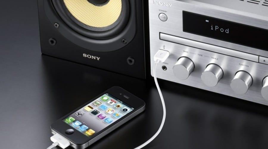 Sony G Series micro Hi-Fi: Conectează iPhone-ul la un sistem audio serios