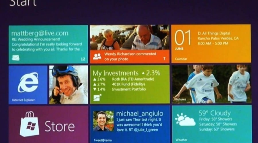 Windows 8: Interfaţă fluidă, colorată, axată pe atingere (video)