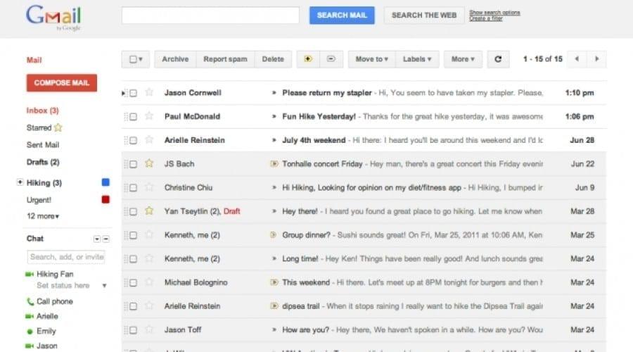Gmail reconfigurat: Un nou design în lucru