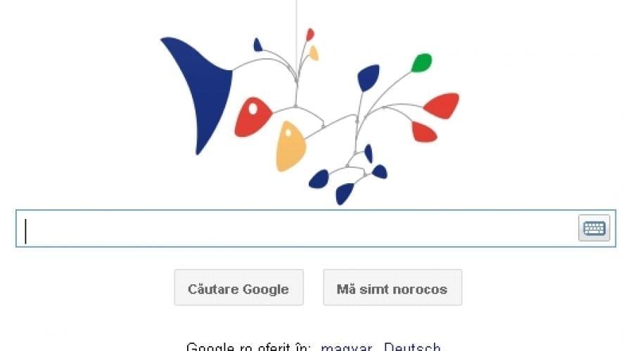 Google îl sărbătoreşte pe Alexander Calder cu o animaţie interactivă a sculpturii The Star