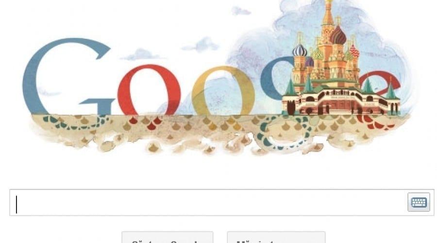 Google Doodle: Catedrala Sfântul Vasile, cu turlele sale unice, împlineşte 450 ani