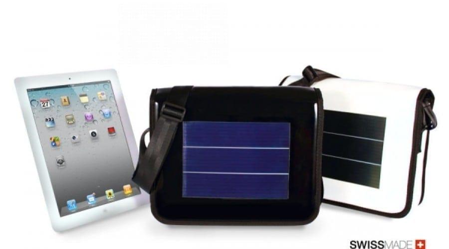 iPad 2: Geantă cu alimentare solară