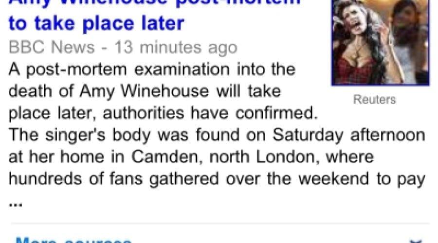 Amy Winehouse: Rămâi la curent cu noile informaţii