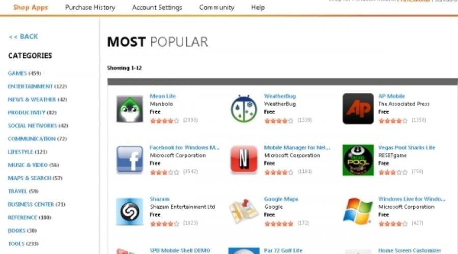 Aplicaţiile din Microsoft Marketplace, disponibile în încă 19 ţări