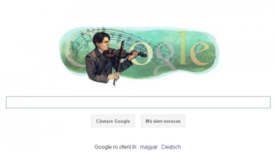 George Enescu sărbătorit de Google cu un doodle special