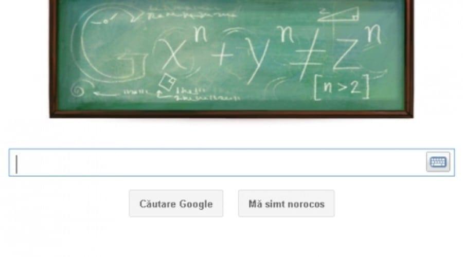 Google Doodle: Pierre de Fermat şi curbele geometrice