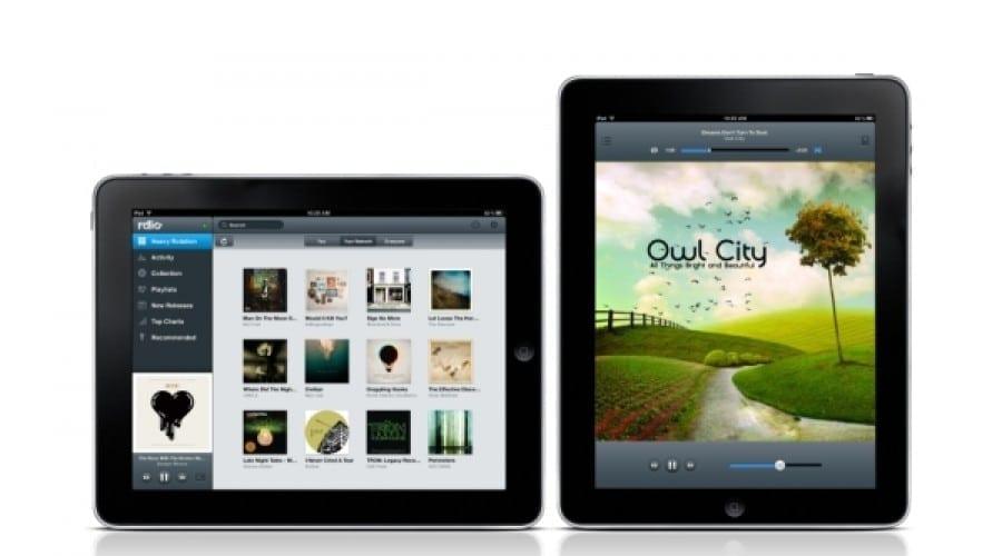 Rdio vine cu o aplicaţie dedicată pentru iPad