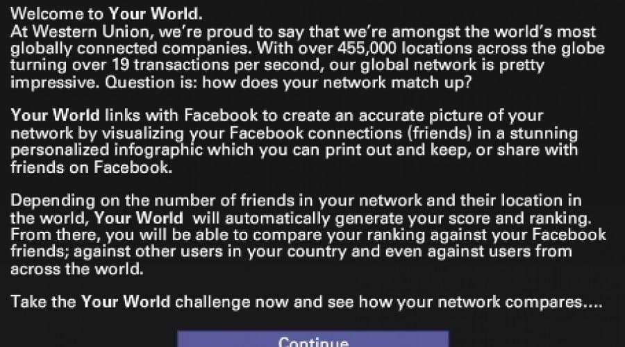 Western Union îşi celebrează 160 de ani de existenţă cu o aplicaţie Facebook
