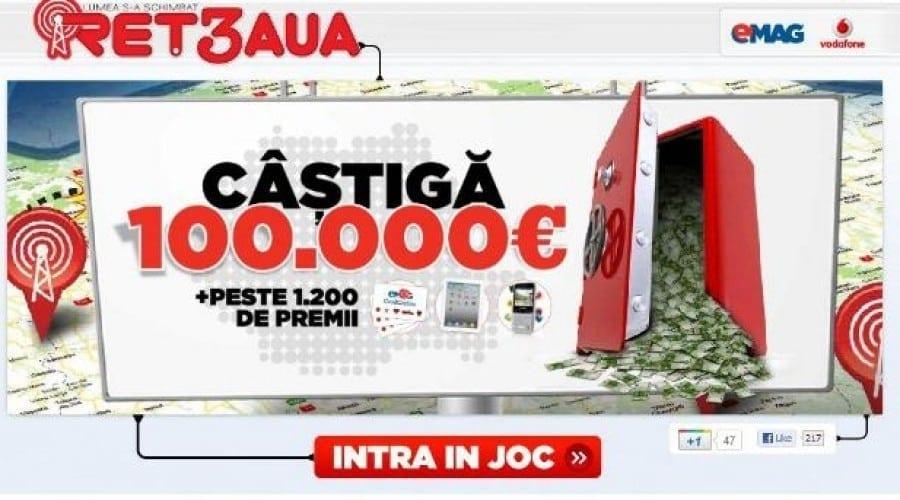 eMag şi Vodafone pun la bătaie 100.000 de euro
