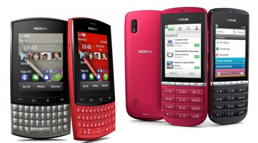 Nokia Asha 303 si Nokia Asha 300: Procesoare de 1 GHz, preturi accesibile si Angry Birds