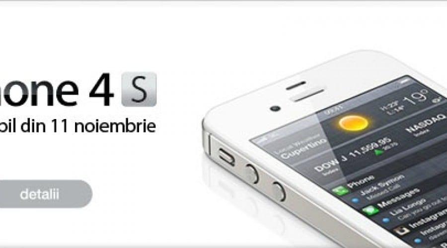 [Update] iPhone 4S la Vodafone Romania si Orange Romania incepand cu 11 noiembrie
