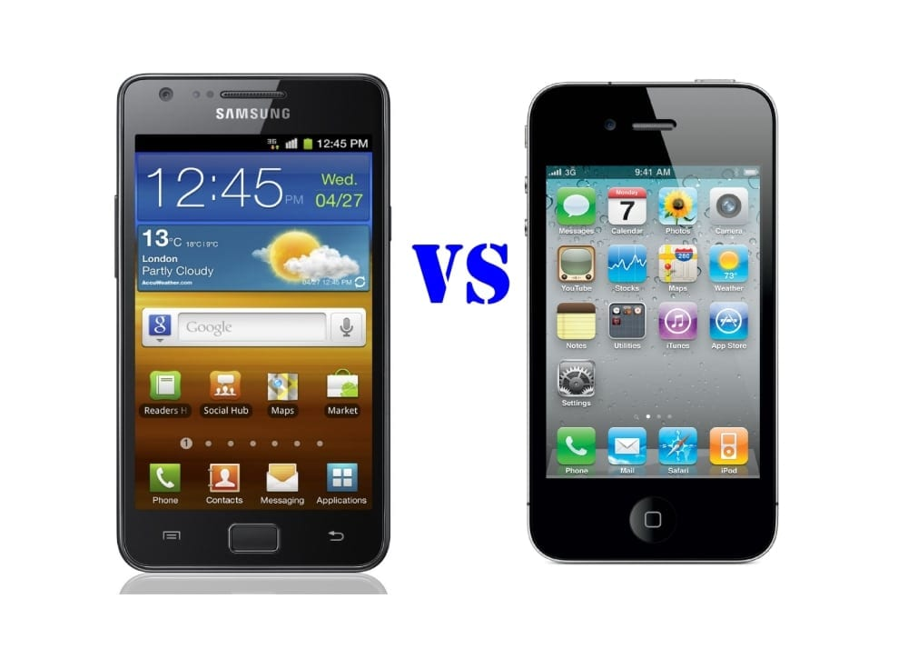 Samsung Galaxy 4 vs iPhone