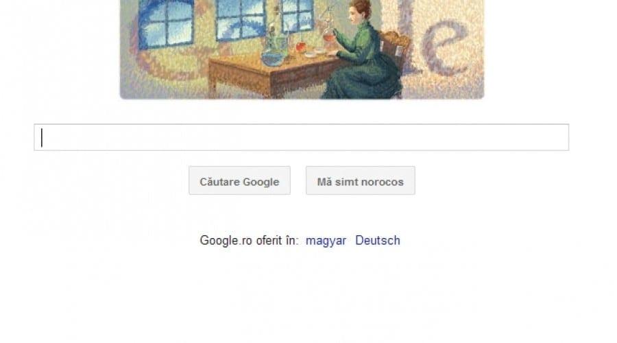 Google o celebrează pe Marie Curie, mama radioactivităţii
