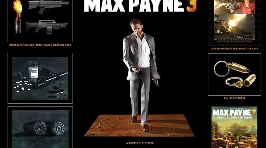 Max Payne 3 Special Edition: Statuetă Max, breloc şi multe alte bunătăţi