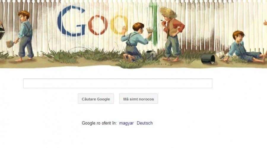 Google Doodle: 176 de ani de la naşterea scriitorului Mark Twain