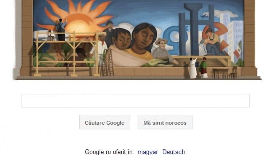 Diego Rivera, celebrul pictor mexican, sărbătorit astăzi de Google