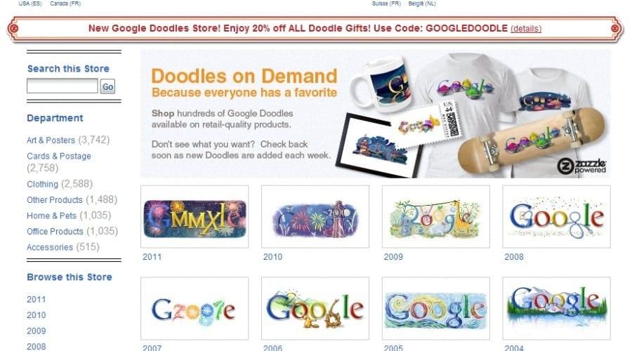 Google lansează Doodle Store