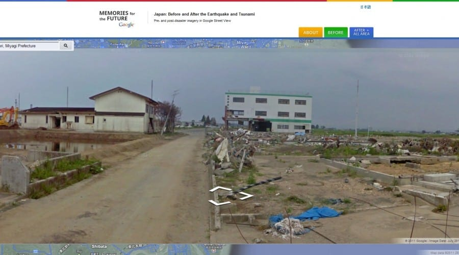 Dezastrul din Fukushima, prezentat de Google Street View