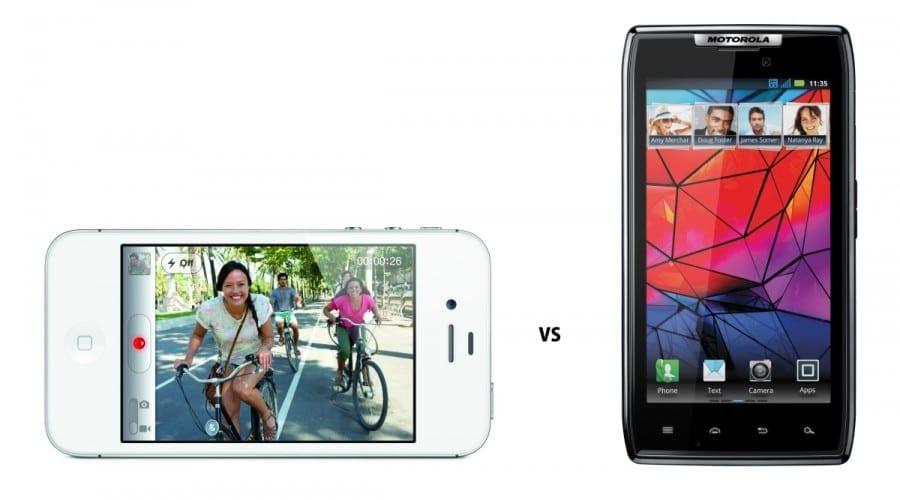 iPhone 4S versus RAZR: O bătălie a specificaţiilor