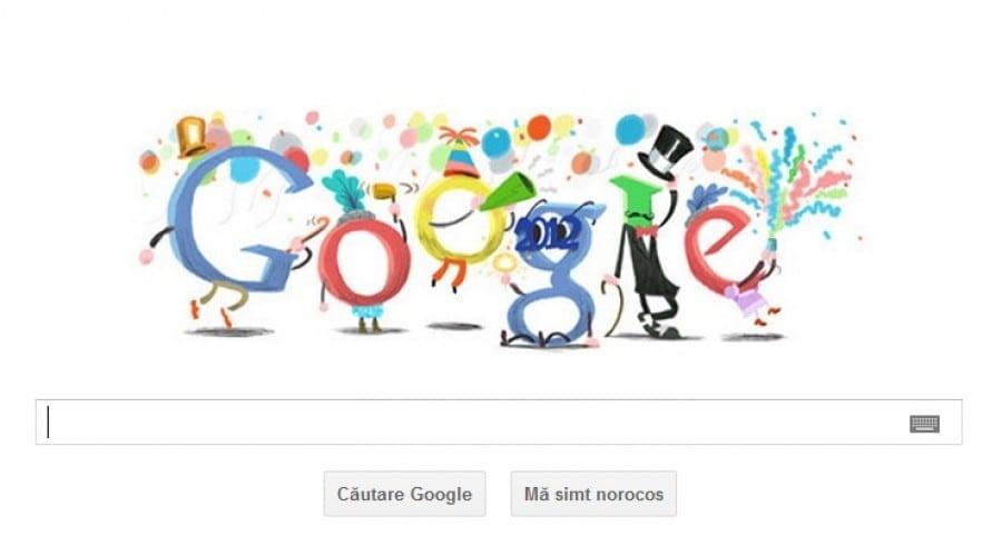 Revelionul, celebrat de Google Doodle