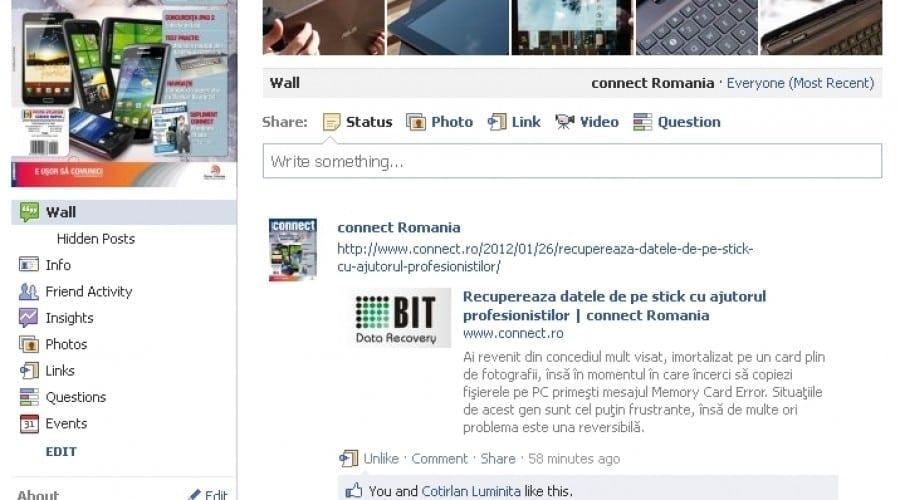 Facebook  a depăşit 4.4 milioane utilizatori în România