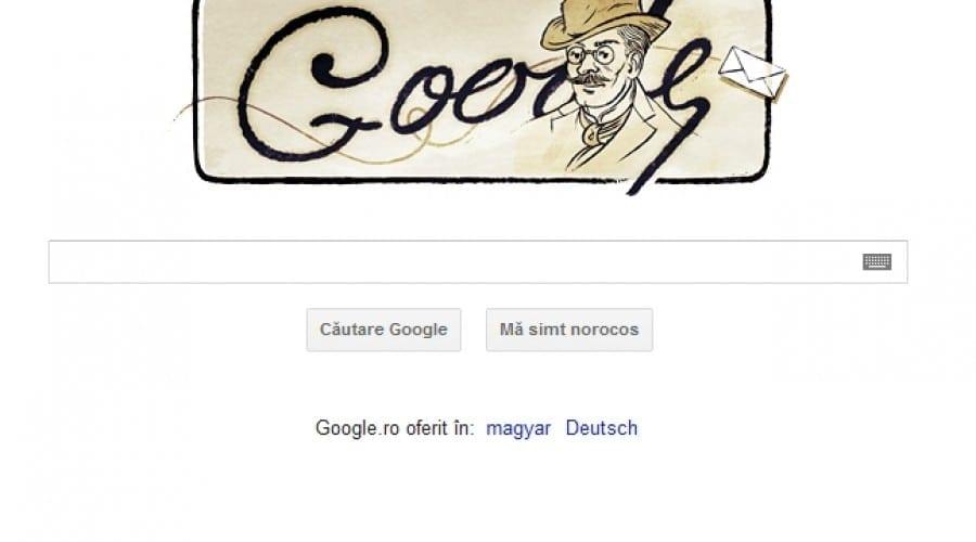 Ion Luca Caragiale, sărbătorit astăzi de Google
