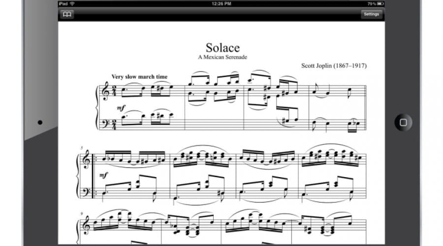 Partituri muzicale pe iPad de la MakeMusic