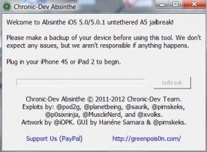 Noul jailbreak Absinthe 5 utilizat pe aproape 1 milion de iPhone 4S şi iPad 2