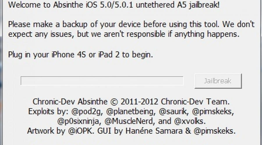 Jailbreak iPhone 4S și iPad 2: Absinthe 5 sosește pe Windows și Mac