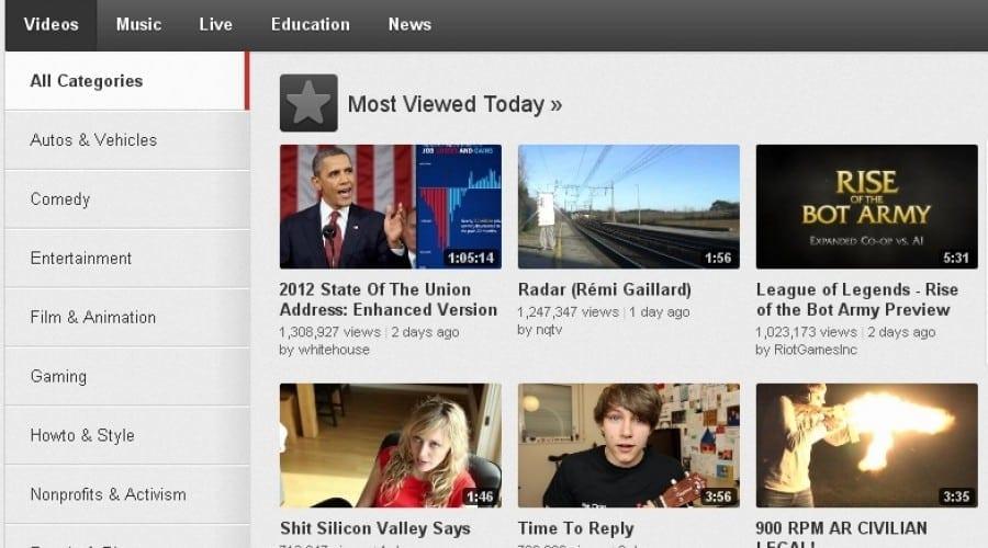YouTube aduce noi schimbări pentru pagina Browse, Video Editor şi Manager