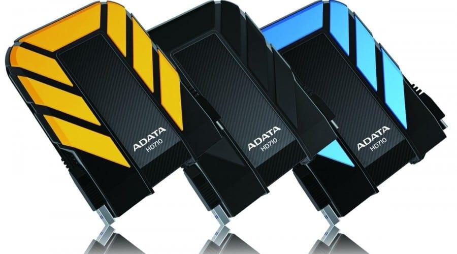 Hard disk-uri portabile, rezistente la apă, praf şi şocuri, de la ADATA