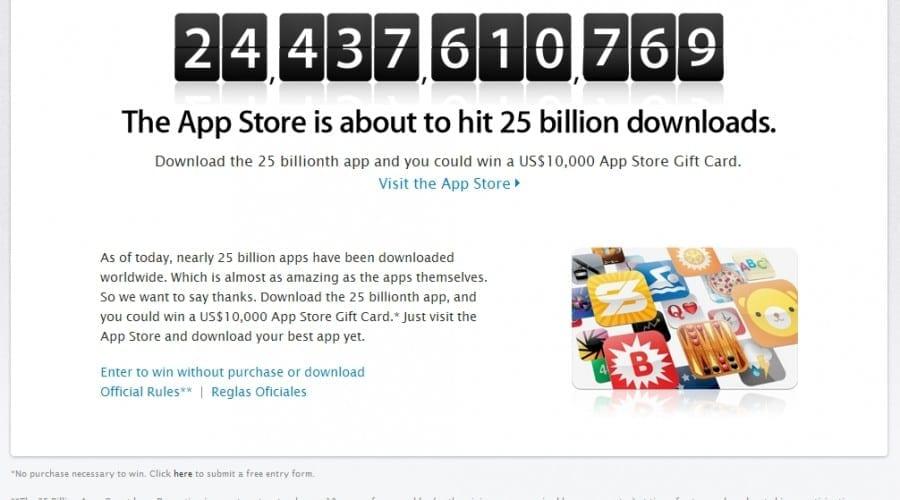 App Store se apropie de cifra de 25 miliarde de aplicaţii descărcate
